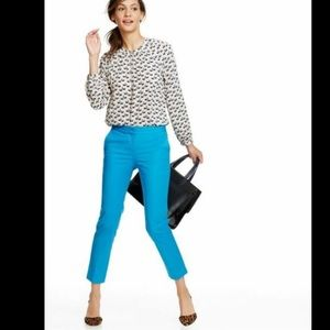 Boden Cropped Teal Trousers/ Pants